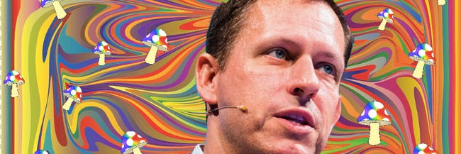 Peter Thiel sees a therapeutic future with magic mushrooms.