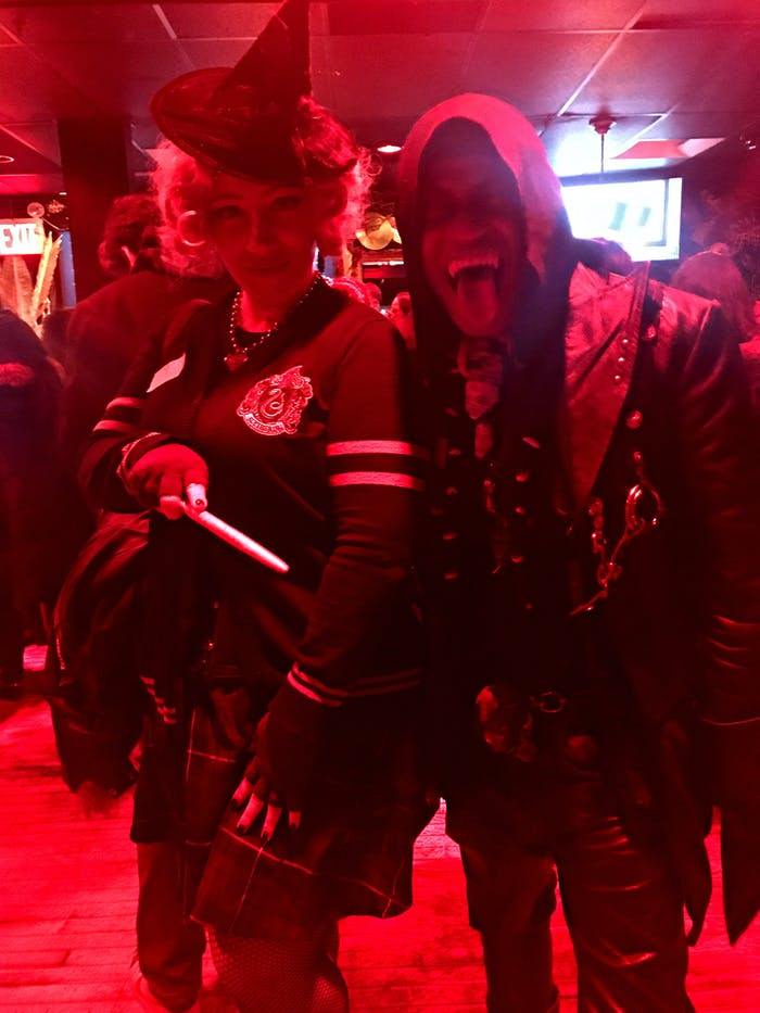 Cosplayers Lady Zombie and Ali Fangsmith