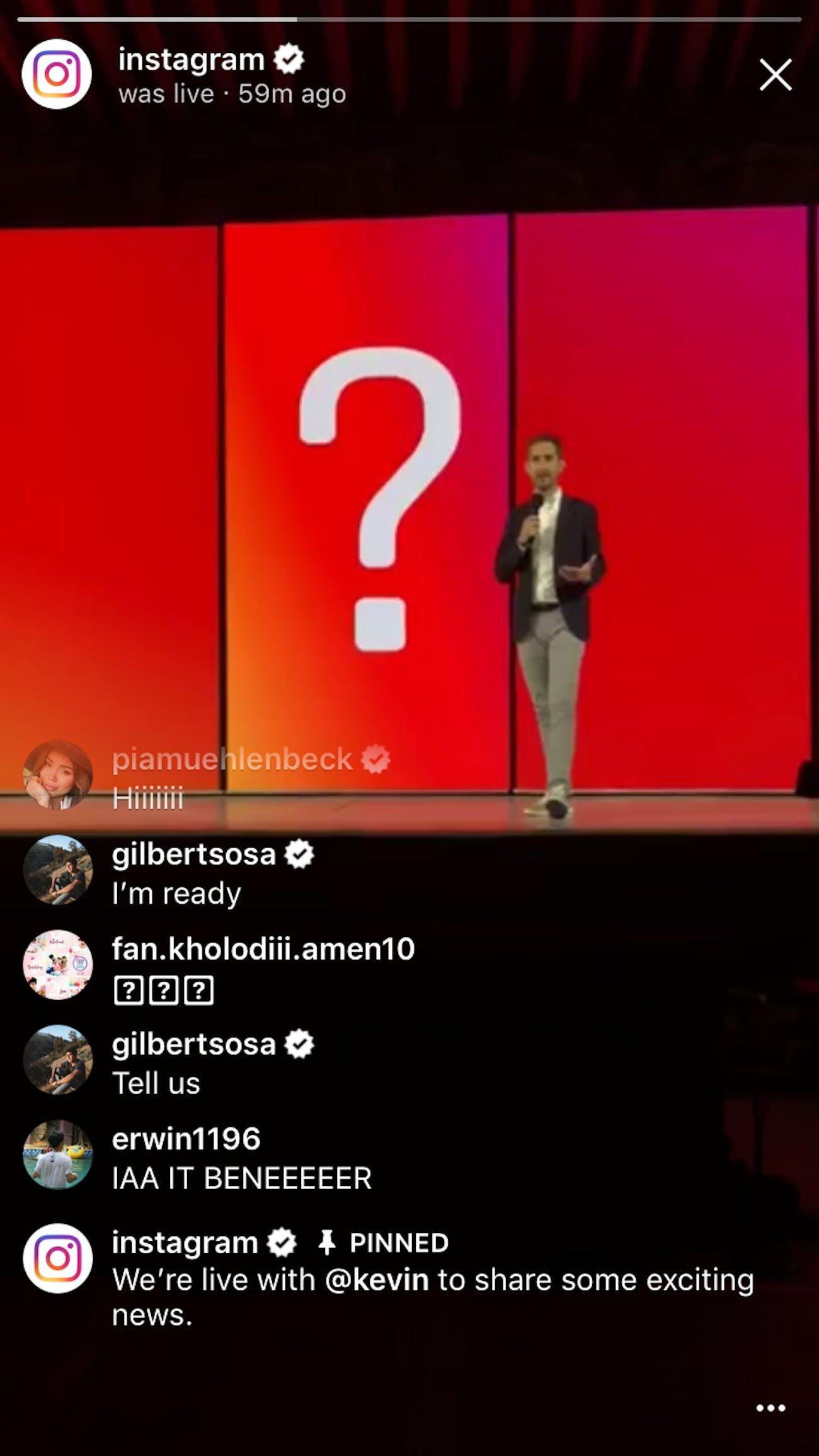 IGTV announcement