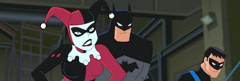 Harley Quinn, Batman, and Nightwing in 'Batman and Harley Quinn'.