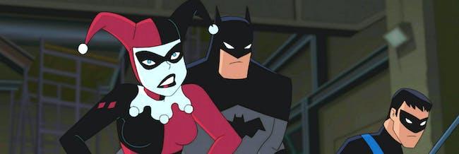 Harley Quinn, Batman, and Nightwing in 'Batman and Harley Quinn'.