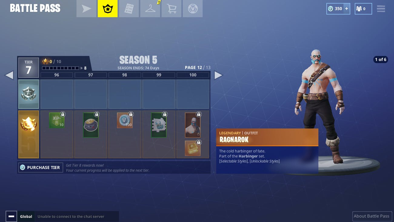 Fortnite Ragnarok Drift And Other Season 5 Battle Pass Skins And