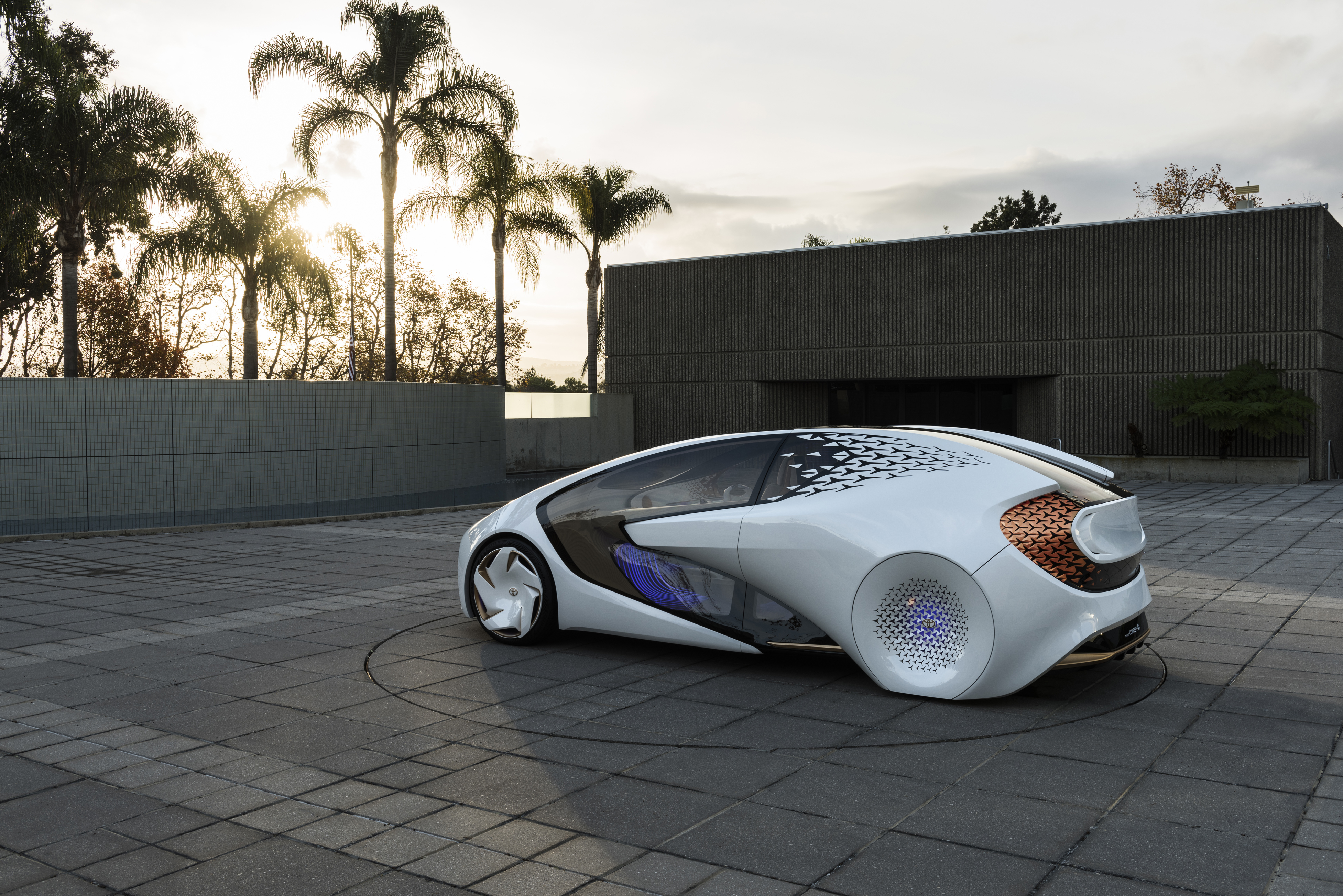Toyota unveiled its Concept-i car, which focuses on user experience and the relationship between the car and the driver.
