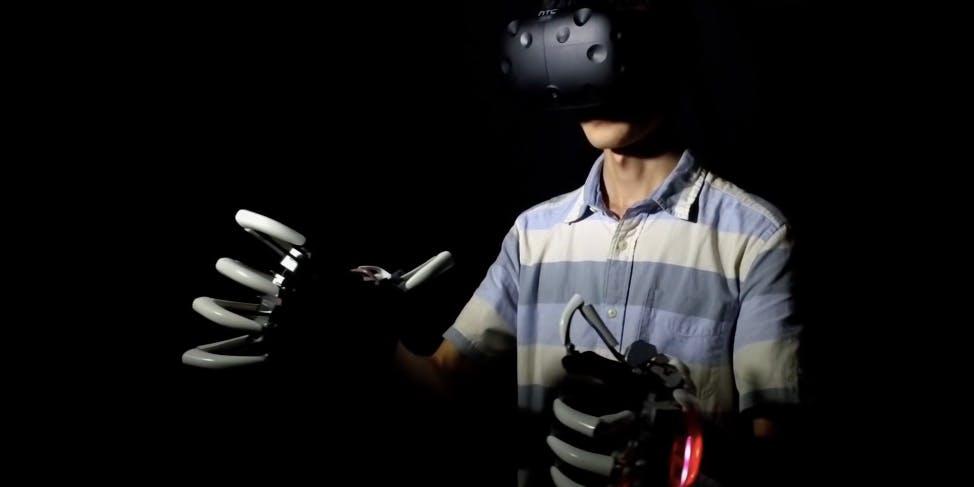 Dexmo helps you feel the virtual reality world.