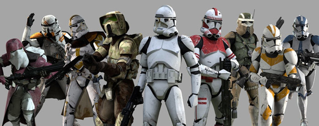 There were a lot of Clone Troopers. Not pictured: Death Trooper?