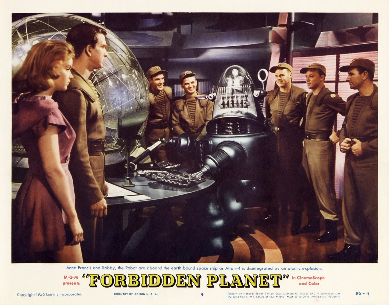 In 'Forbidden Planet', the robot is the real hero.