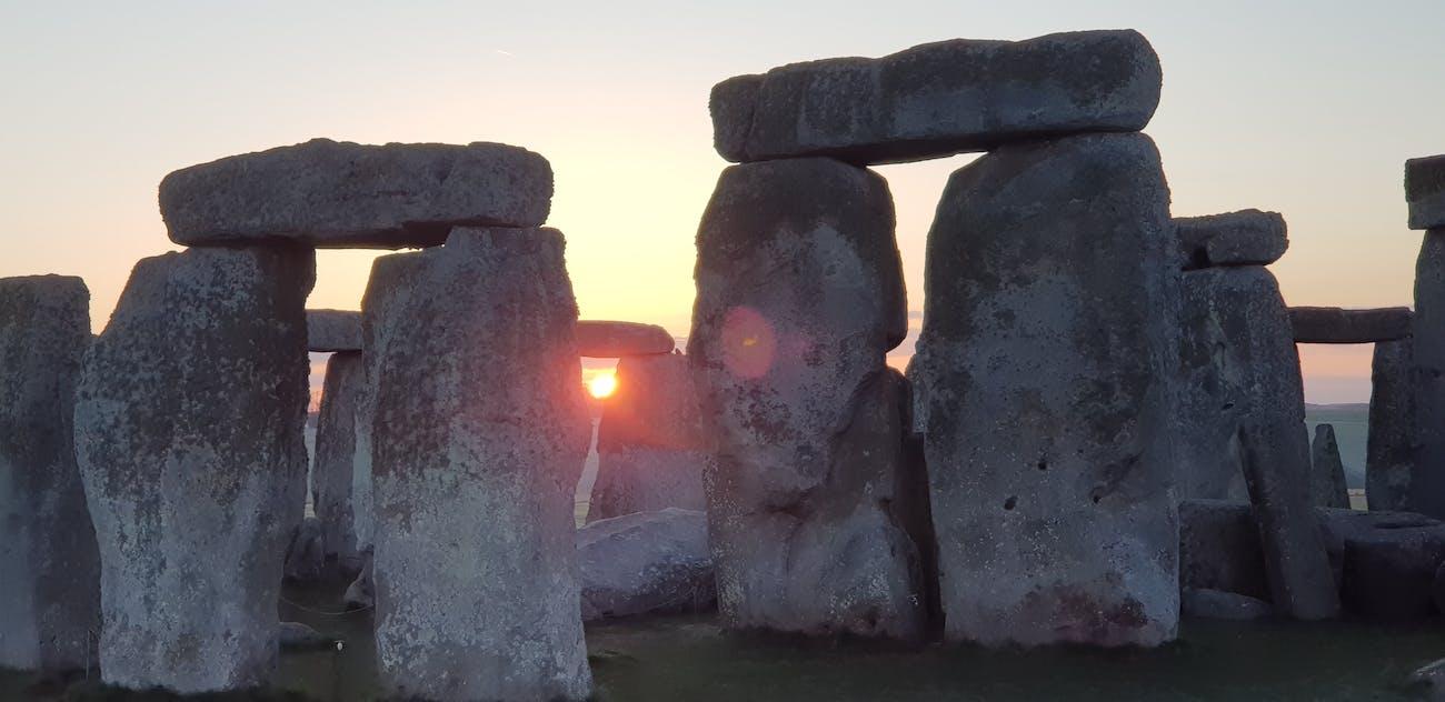 Stonehenge at Sunrise and Sunset