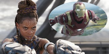 Shuri in 'Black Panther'; Iron Man in 'Captain America: Civil War'