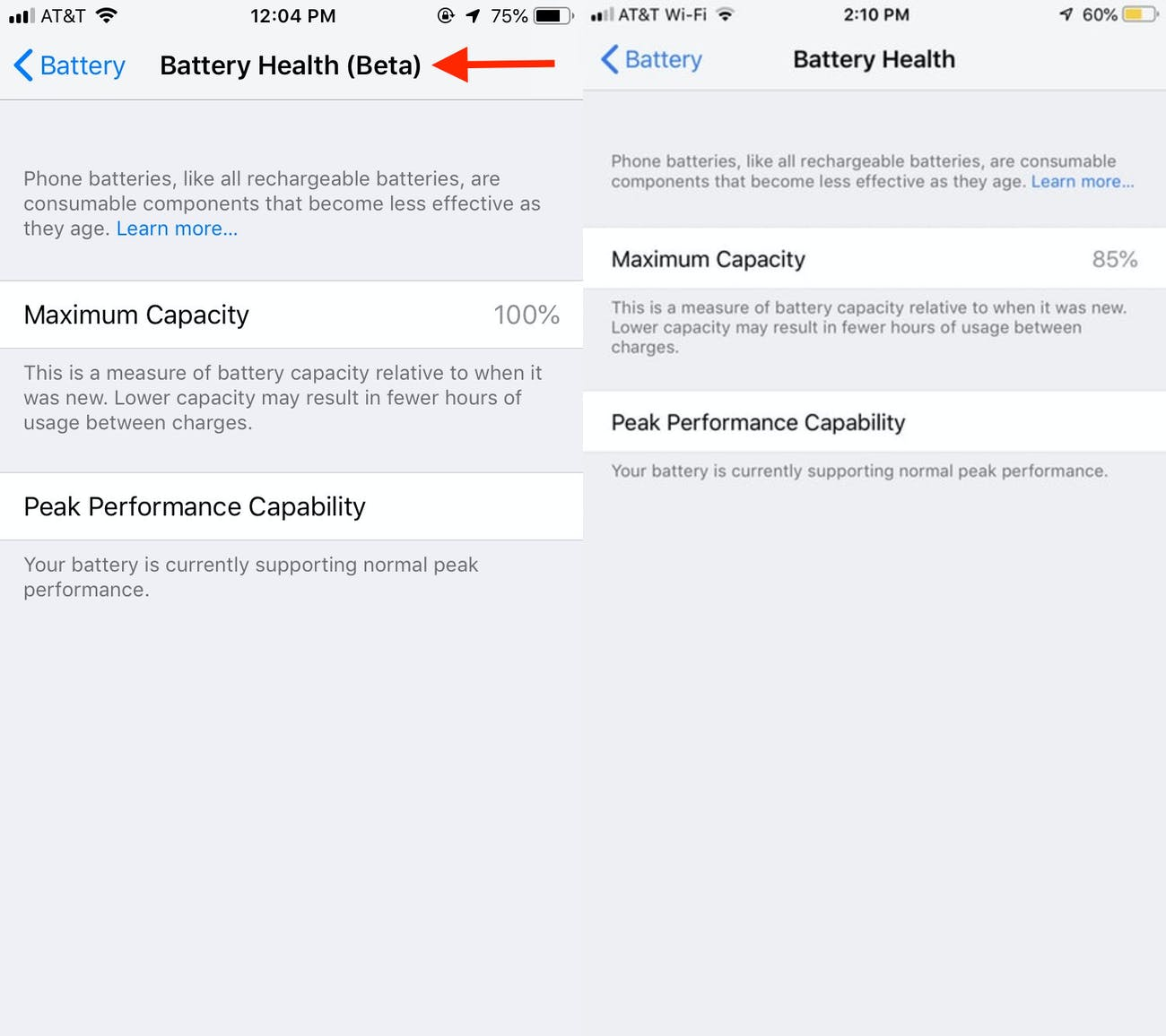 ios 12 beta battery health