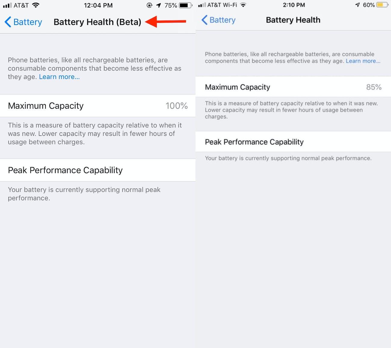 ios 12 beta battery health