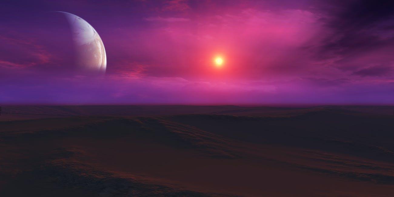 Exoplanet Sunset