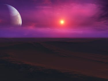 Exoplanet Sunset