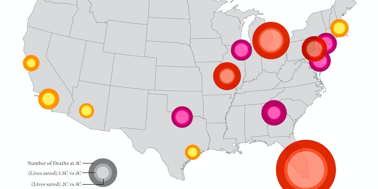 US cities that will be severely affected by climate crisis-induced heatwaves.
