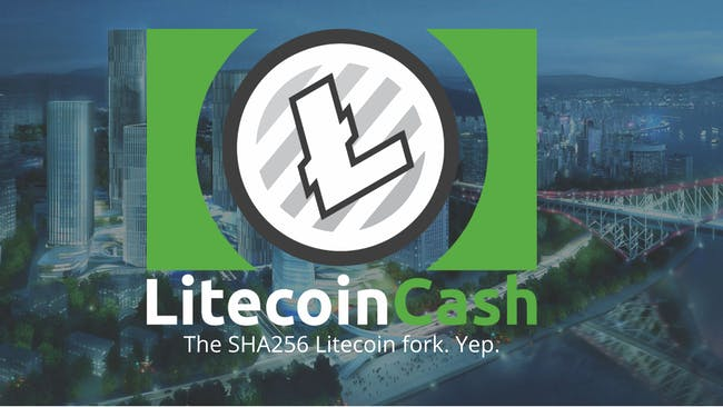 Litecoin cash website logo.