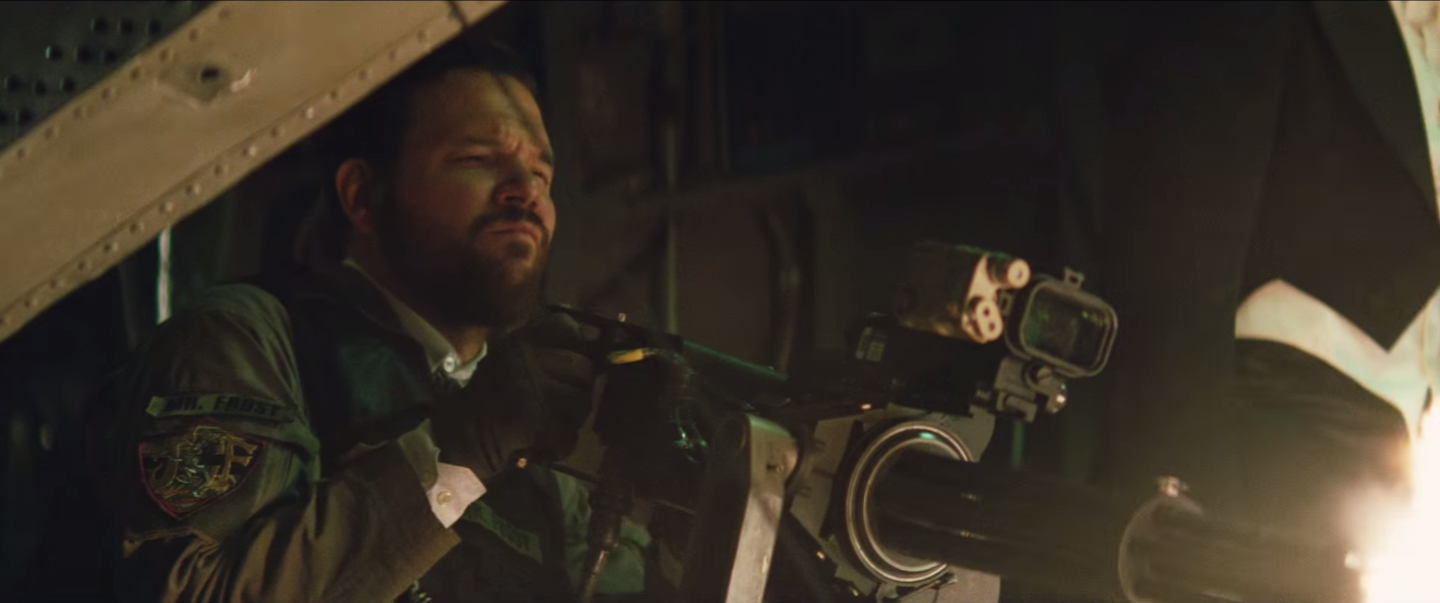 "Jonny Frost in 'Suicide Squad.' Note the patch: ""Mr. Frost."""