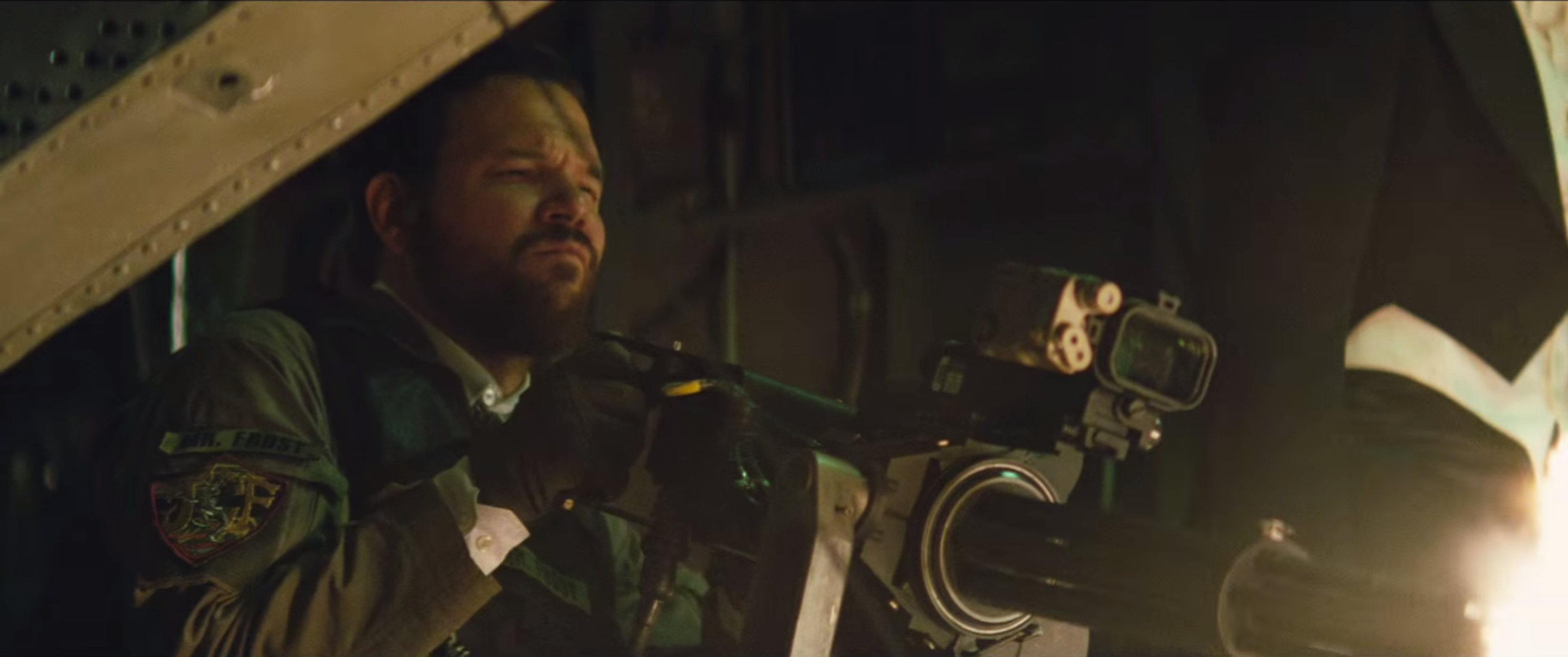 """Jonny Frost in 'Suicide Squad.' Note the patch: """"Mr. Frost."""""""