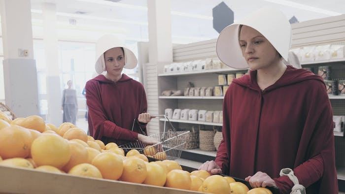 In 'The Handmaid's Tale', rare public moments like these are used for trading secrets.