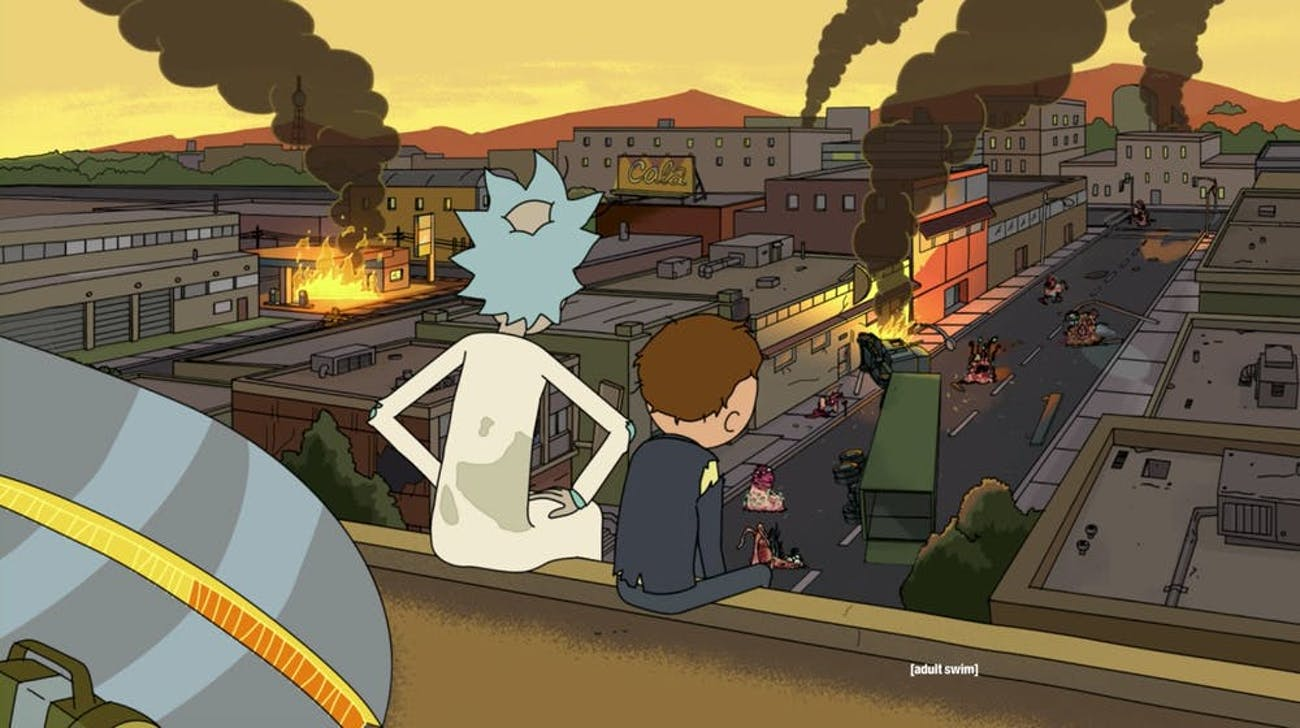 Look upon what ye hath wrought with fear, Morty and Rick.