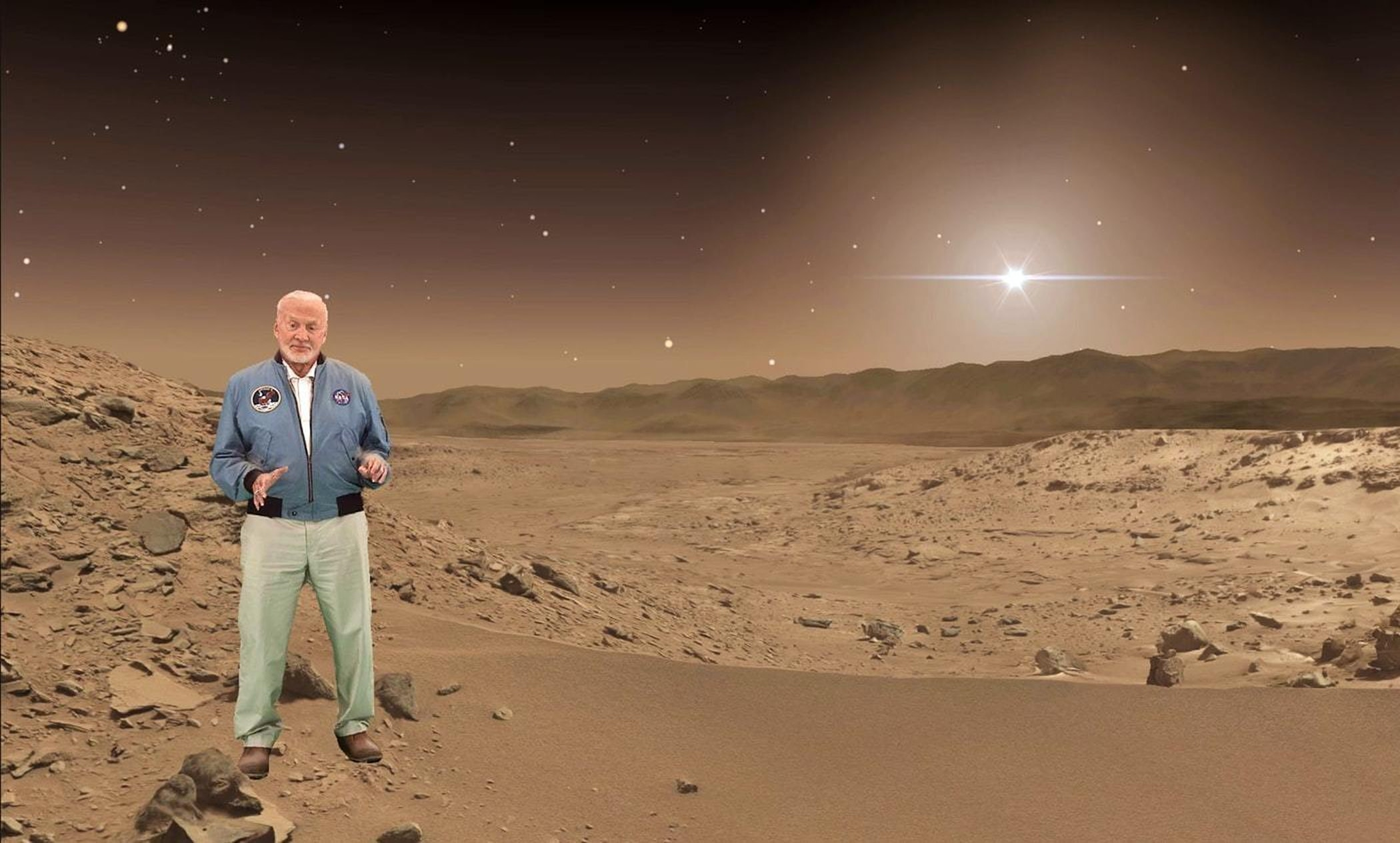Buzz shows us our future on Mars.