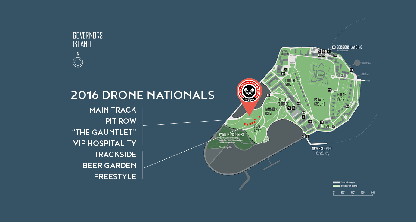 Map of the event on Governor's Island