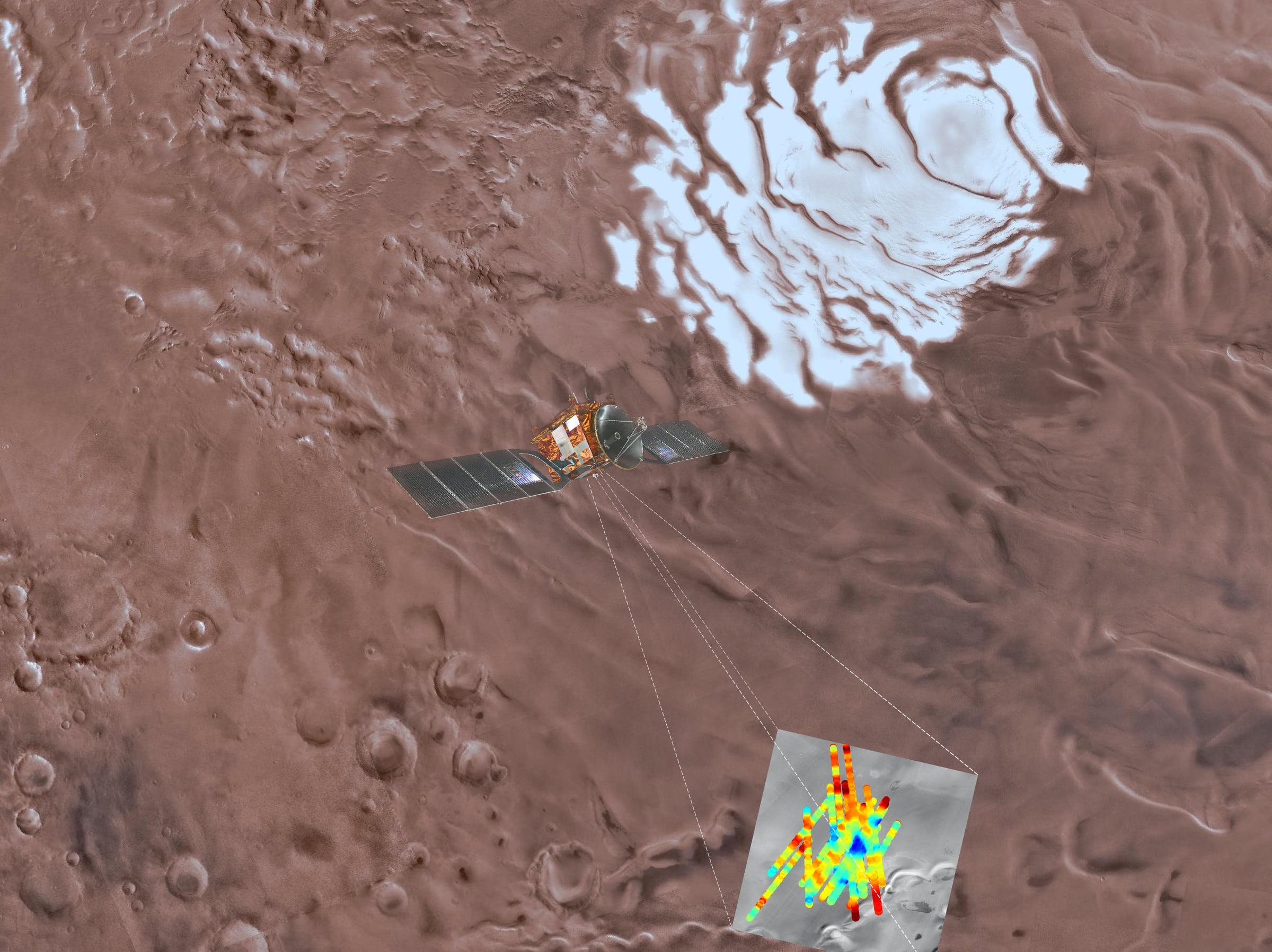 Scientists used the Mars Express spacecraft to find water below the surface of Mars.
