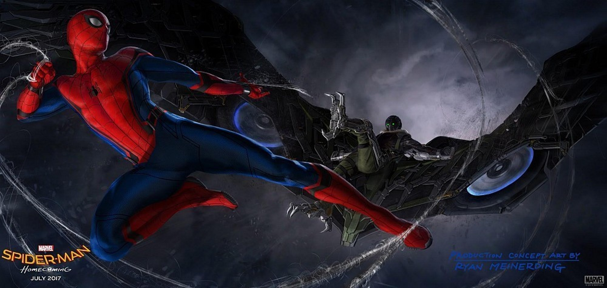 Official concept art released by Marvel for 'Spider-Man: Homecoming'.