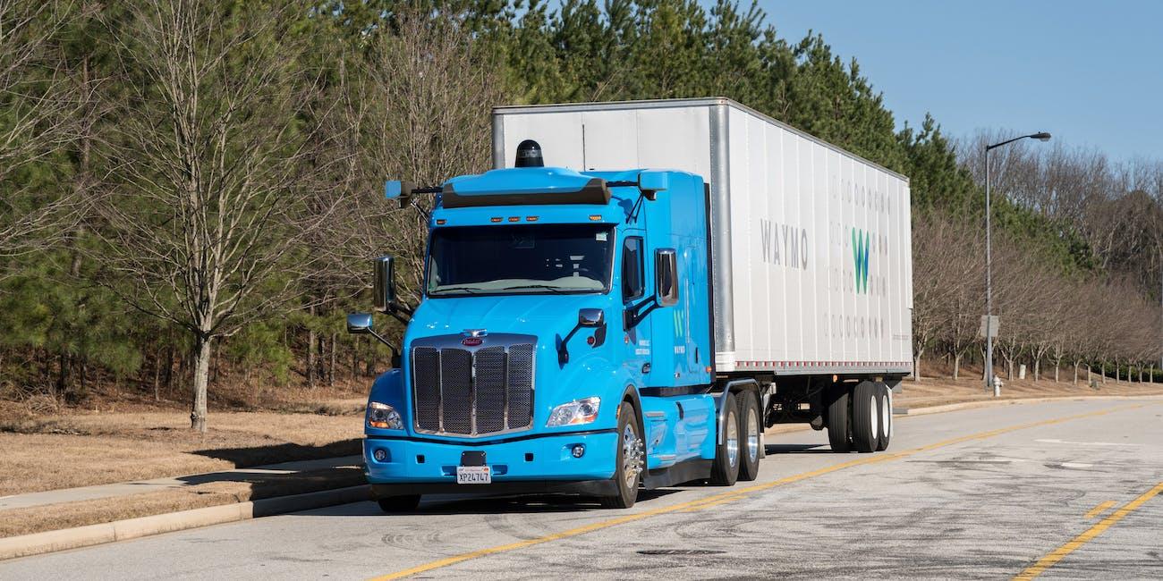 Waymo autonomous trucks.