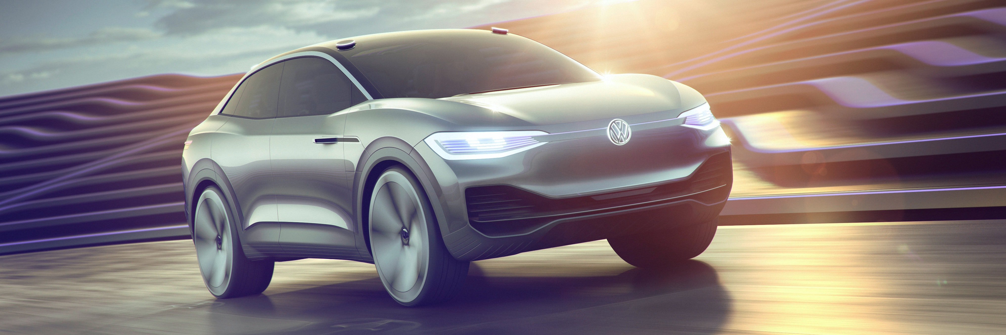 I.D. Crozz the VW electric crossover car that will go into production in 2020.