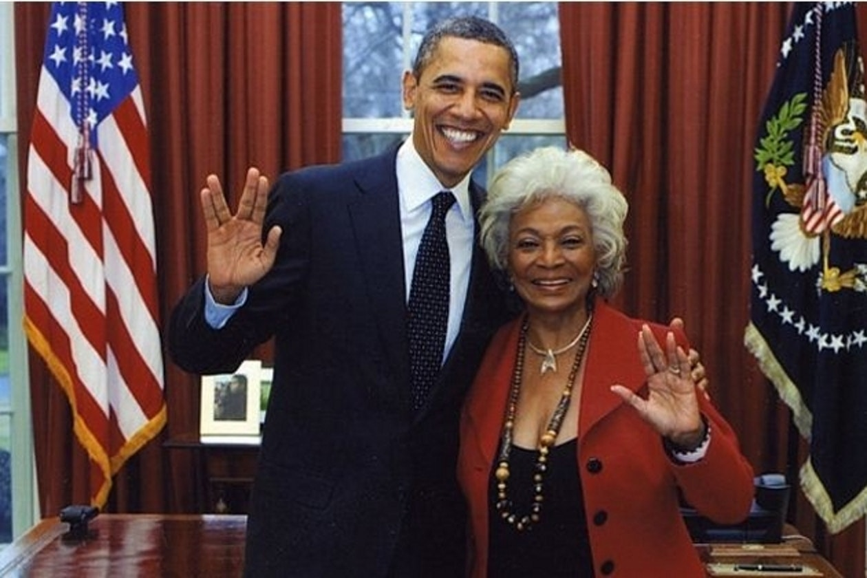 President Obama with Nichelle Nichols back in 2012