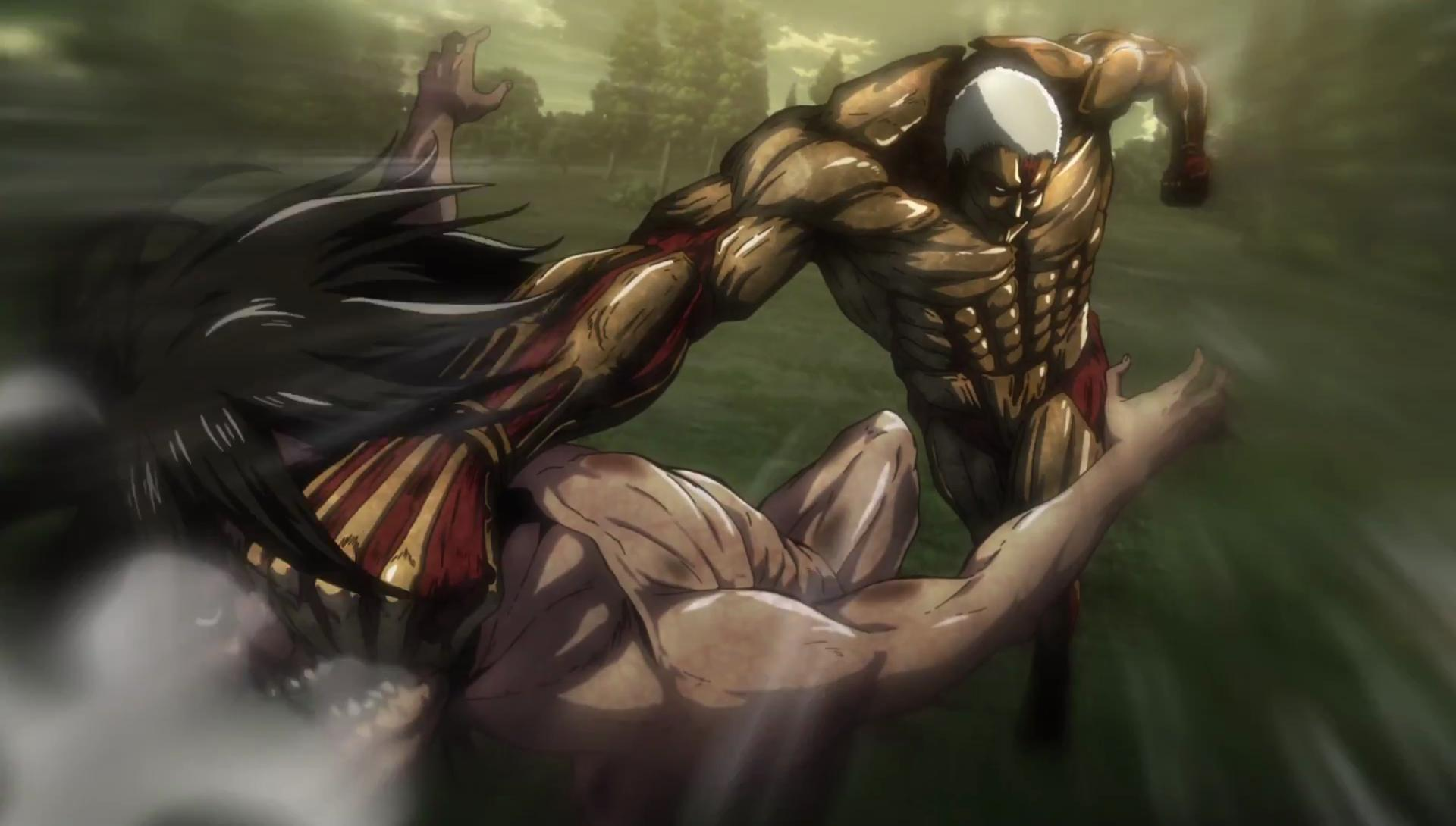 Eren Fights the Armored Titan in 'Attack on Titan' | Inverse