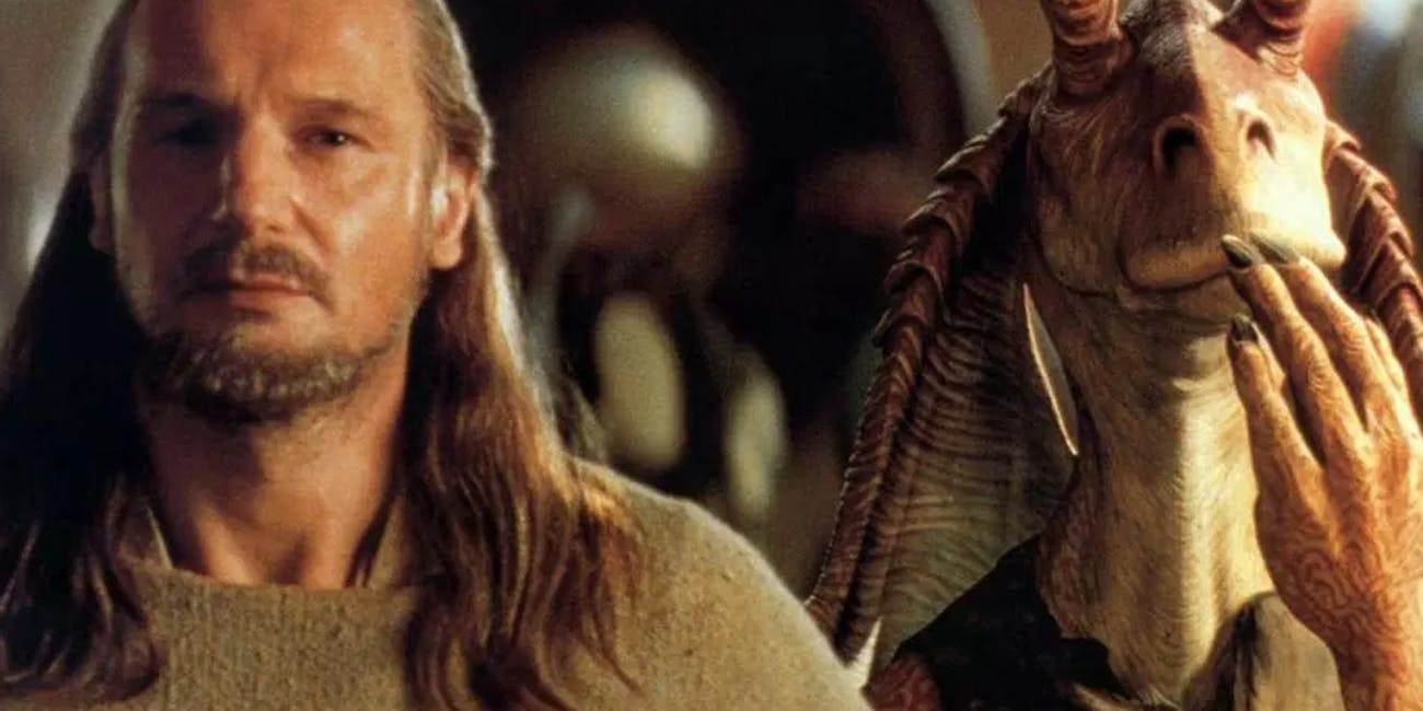 Qui-Gon Jinn and Jar Jar Binks