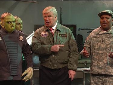 "President Trump Passes the Buck During Alien Invasion on 'SNL"""