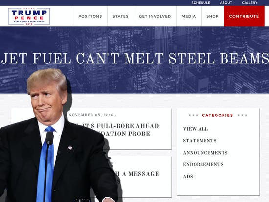 You Can Make Donald Trump's Shitty Website Say Whatever You Want