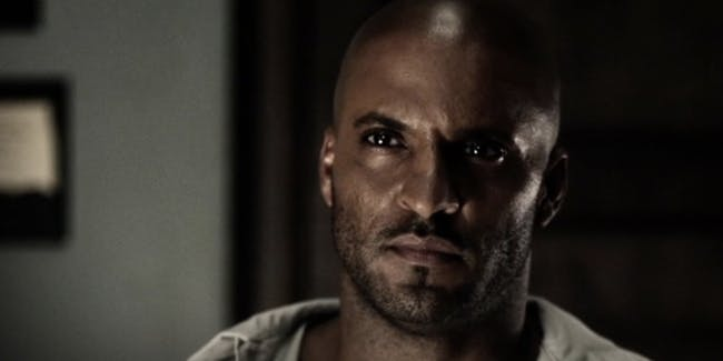 Wednesday and Shadow in 'American Gods'