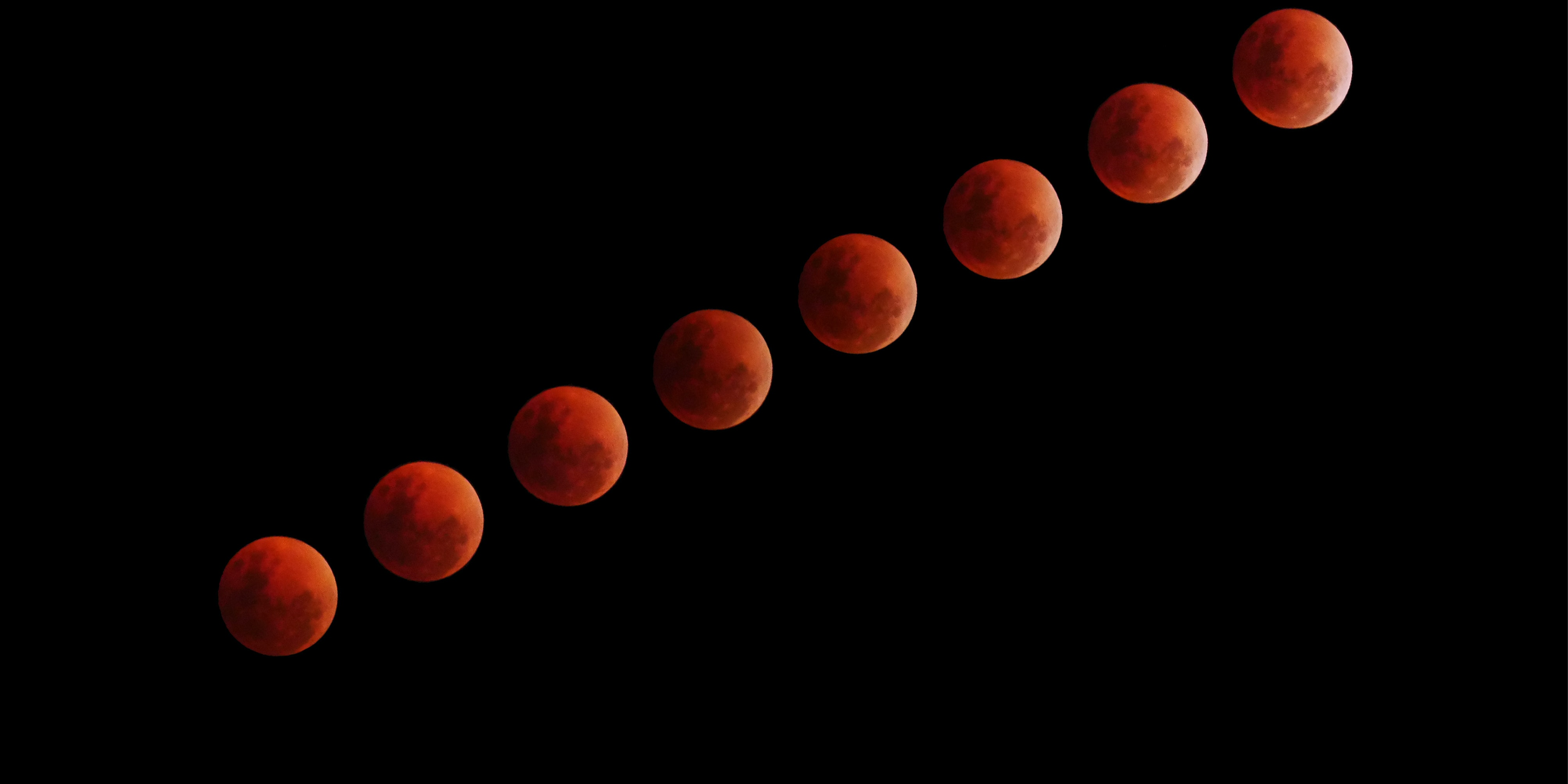 Super Blood Wolf Moon When And How To See The Rare Lunar Event