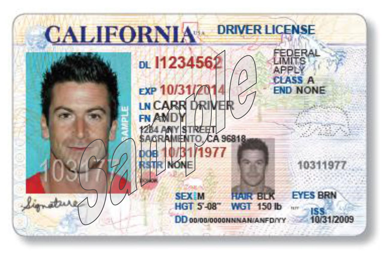 Its Made Just To Change California Drivers Big License Inverse A