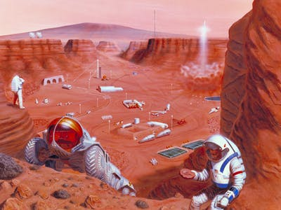 Genetically Engineered Bacteria Will Get Construction Jobs on Mars