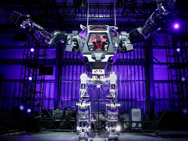 Jeff Bezos Posts Photo of Himself in a Massive Robotic Mech Suit