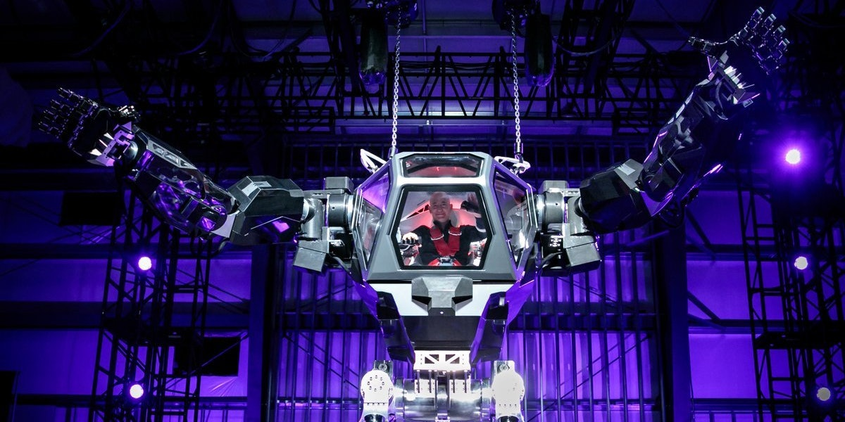 Jeff Bezos Posts Photo of Himself in a Massive Robotic Mech Suit