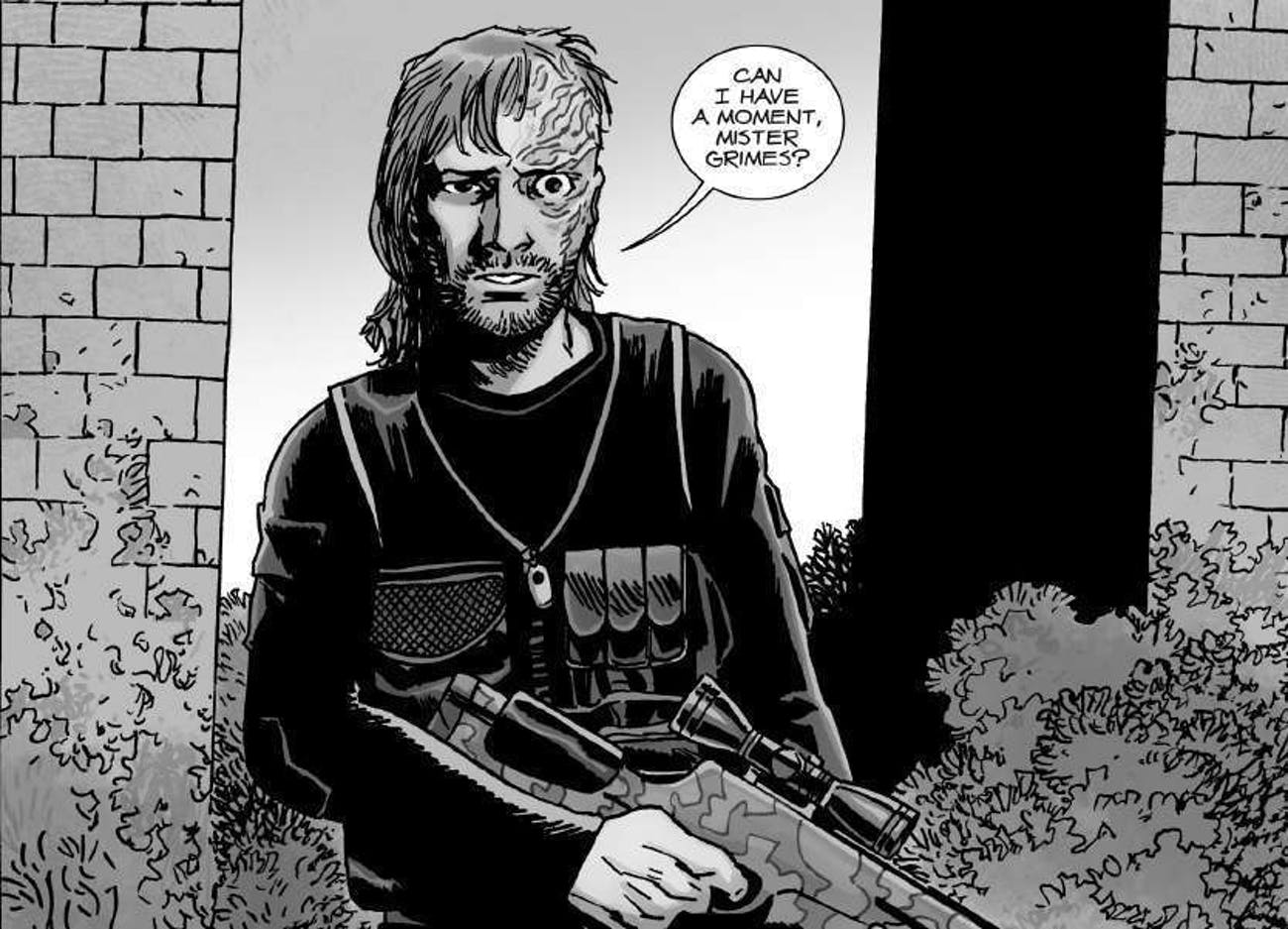 Dwight addresses Rick peacefully in 'The Walking Dead' comics