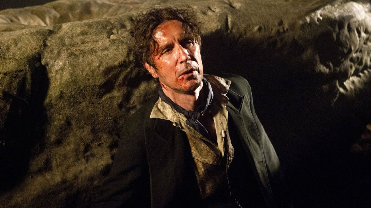 "Paul McGann as the 8th Doctor in ""Night of the Doctor."""