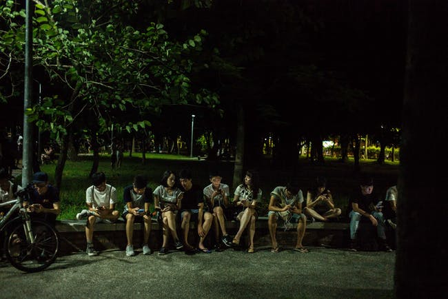 TAIPEI, TAIWAN - AUGUST 07: People play Pokemon Go on their smartphones on August 7, 2016 in Taipei, Taiwan. 'Pokemon Go,' which has been a smash-hit across the globe was launched in Taiwan on 6th August. Since its global launch, the mobile game has been an unexpected megahit among users who have taken to the streets with their smartphones. (Photo by Billy H.C. Kwok/Getty Images)