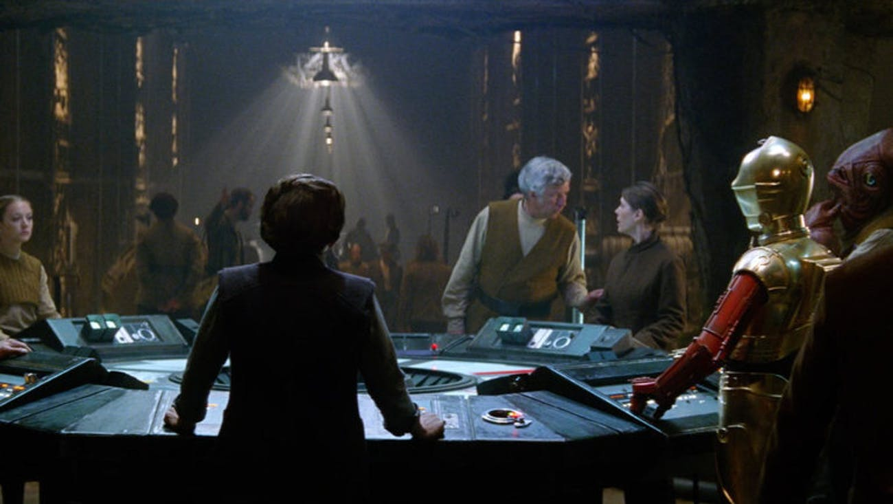 General Leia leads the Resistance in 'The Force Awakens.'