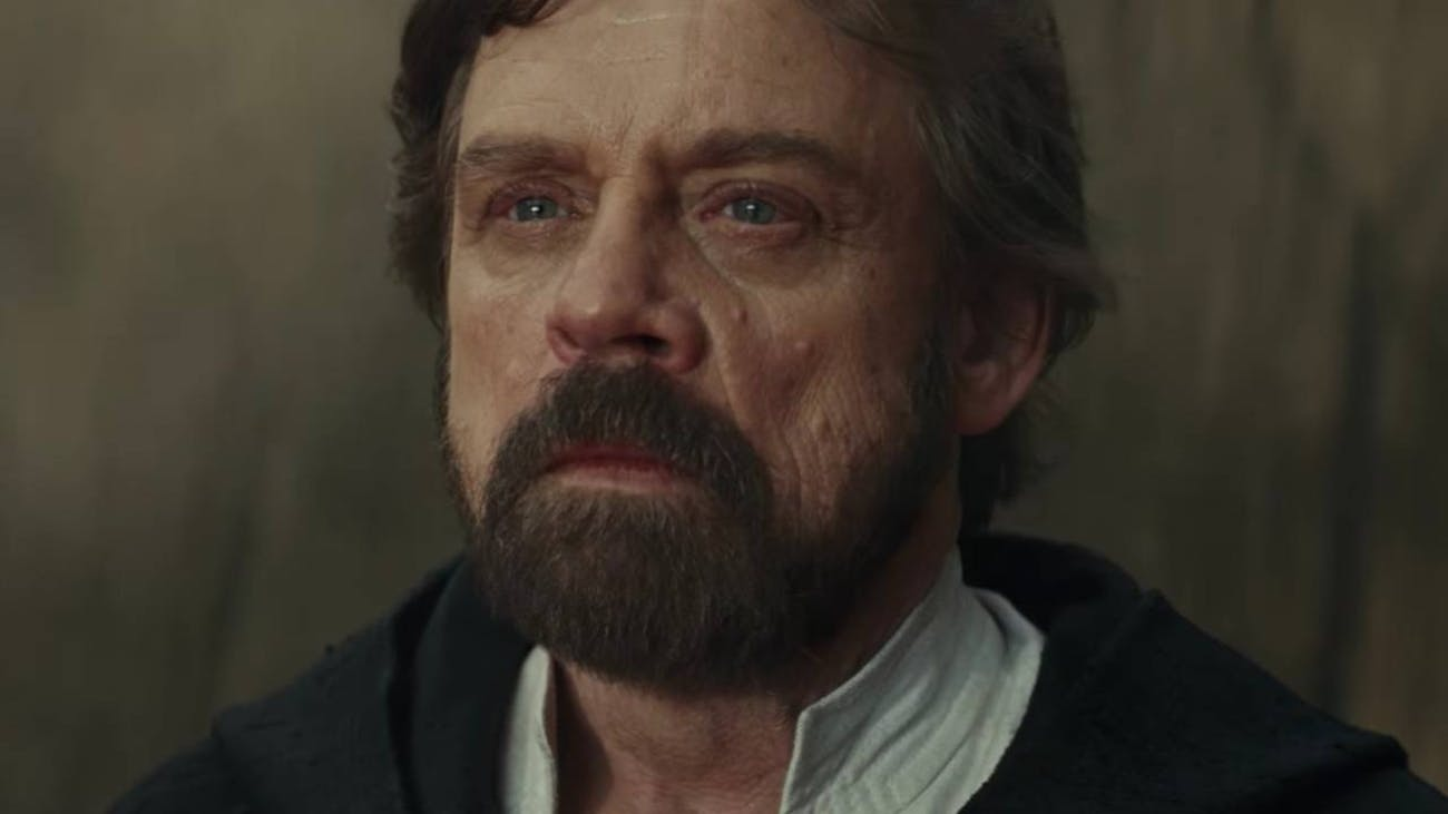 """Luke opted for """"younger with a darker beard and a haircut"""" instead of """"virtually indistinguishable from the real item,"""" but the definition holds."""