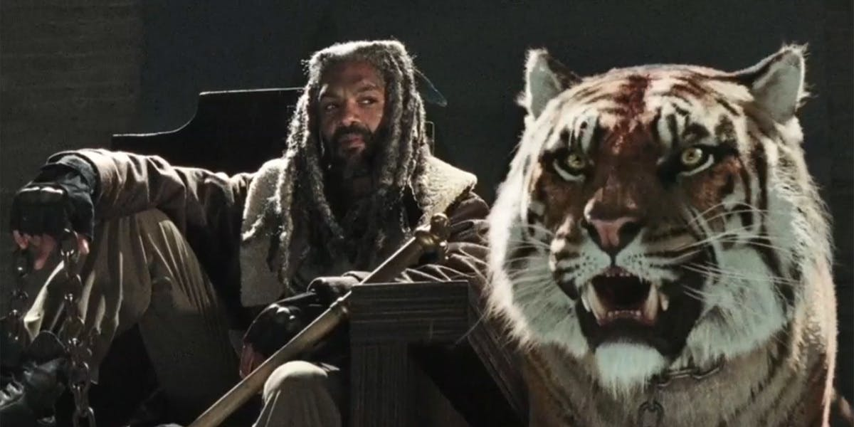 Ezekiel and his cat just chilling.