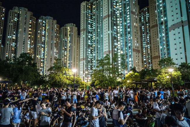 Pokemon Go players in July 2016 in Hong Kong.