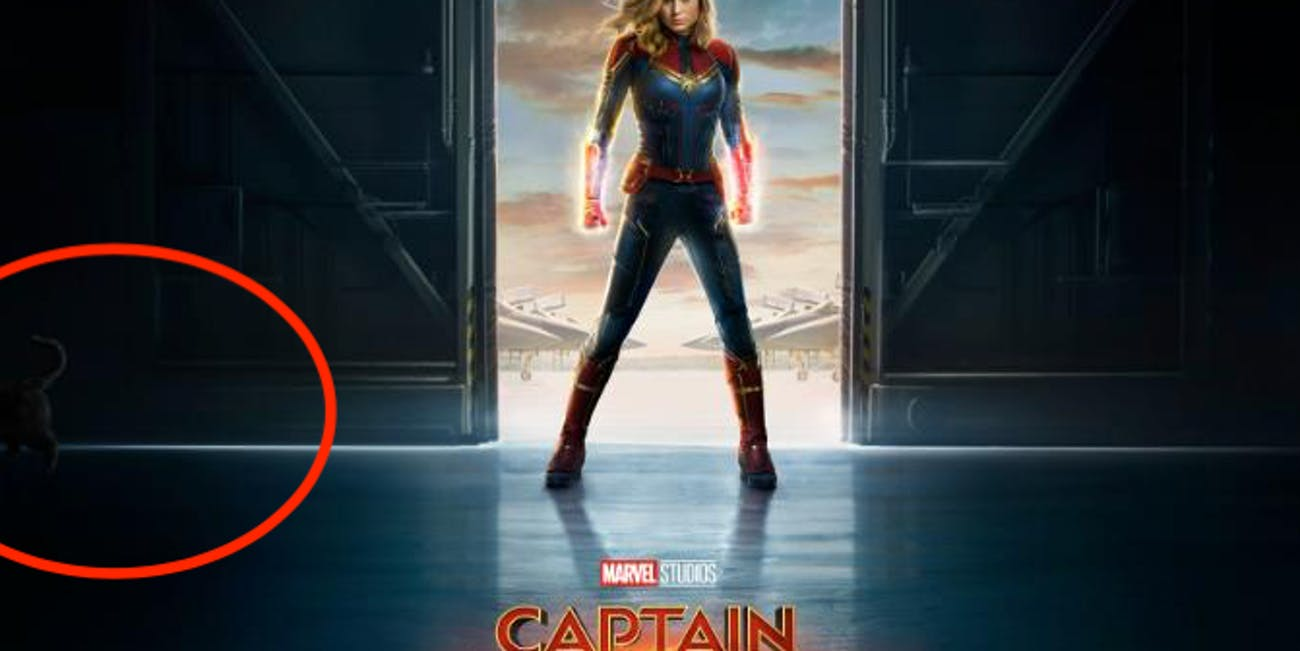 The Captain Marvel poster has a pretty obvious Easter Egg