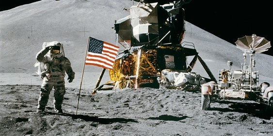 A photo taken from the Apollo 15 mission.