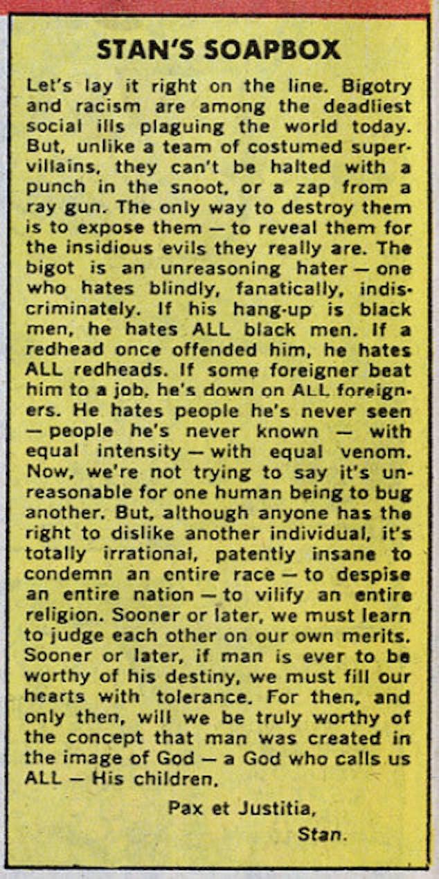 Stan Lee Racism Soapbox