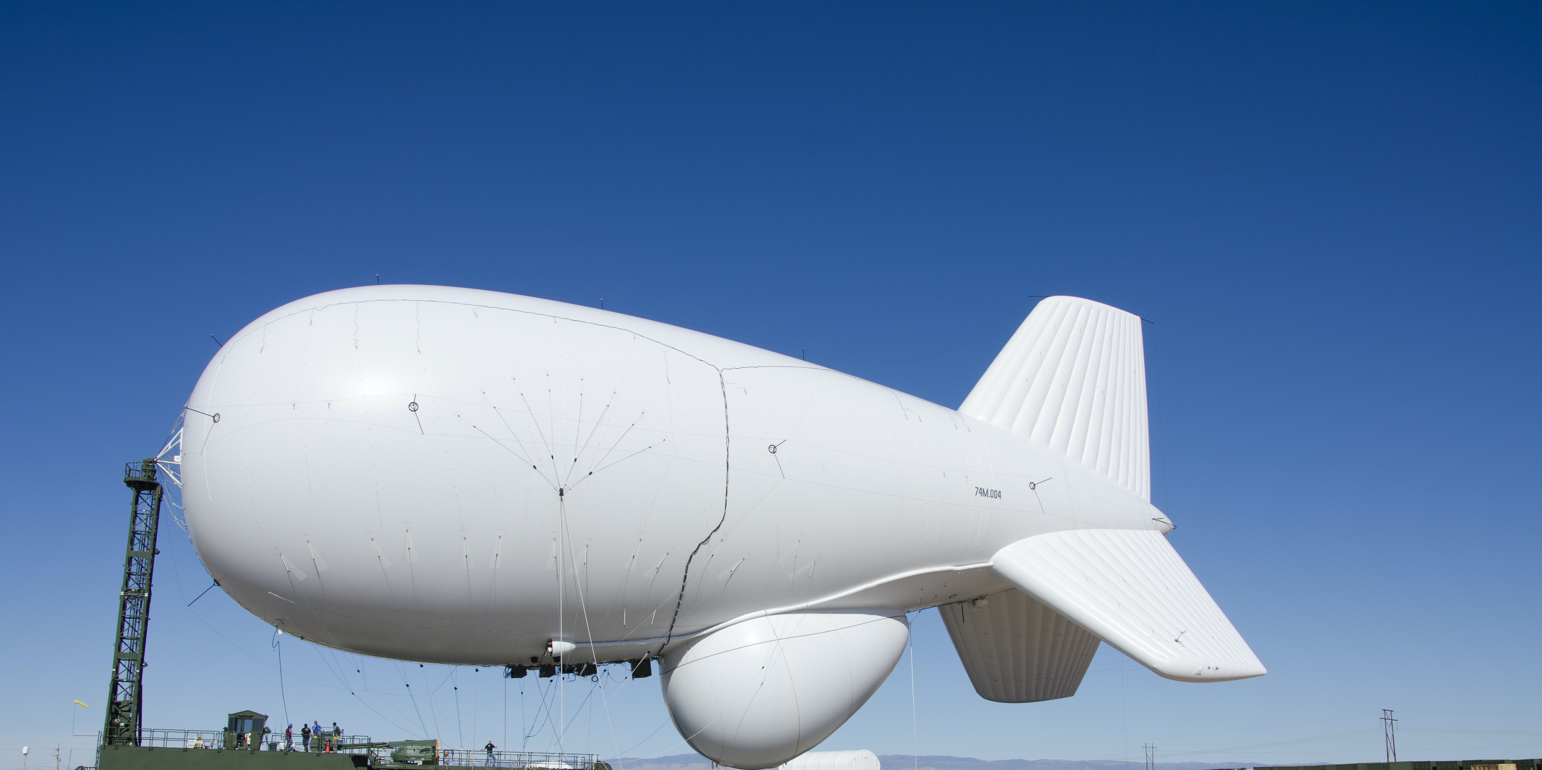 Untethered Military Surveillance Blimp Floats 130 or So Miles Before Landing in Bloomsburg, Pennsylvania
